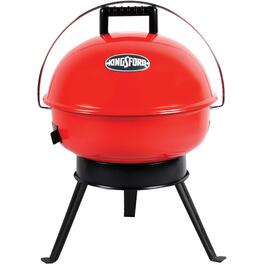 211 sq. in. Red Kettle Table Top Charcoal Barbecue thumb