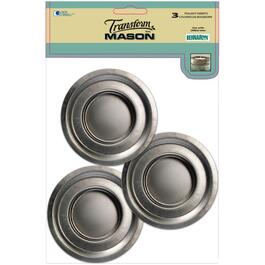 3 Pack Regular Tea Lite Mason Jar Lids thumb