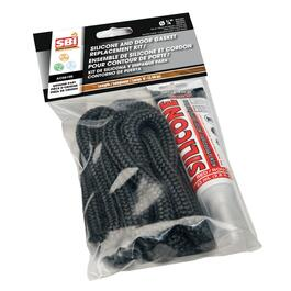 "8' 1/4"" Flat Oval Stove Rope Kit thumb"