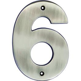 "5"" Antique Nickel '6' House Number thumb"