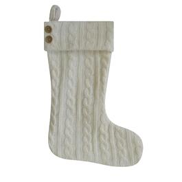 "19"" Cable Knit Stocking, Assorted Colours thumb"