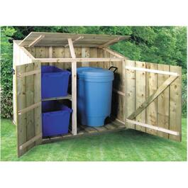 Treated Pine Outdoor Garbage Bin Organizer Project Package thumb