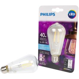 5W ST19 Medium Base Daylight Vintage LED Light Bulb thumb