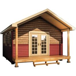 16' x 20' Bunkie, with Chalet Siding and Pine trim thumb