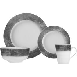 16 Piece Cement Round Porcelain Dinnerware Set thumb