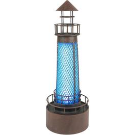 "21"" Solar Lighthouse Garden Statue, Assorted Colours thumb"