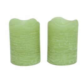 "2"" X 2.5"" 2 Pack Bamboo Battery-Operated LED Votive Candles thumb"
