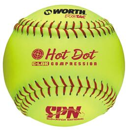 "12"" Yellow Hot Dot Softball thumb"
