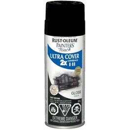 340g Painters Touch 2X Black Gloss Alkyd Paint thumb