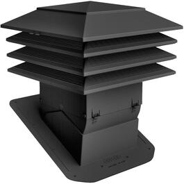 "12"" x 12"" Black Weatherpro Pivot Roof Vent thumb"