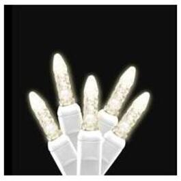 50 LED Clear M5 Vintage Light Set, with White Wire thumb