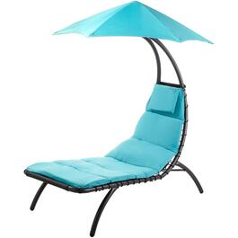 True Turquoise Original Dream Steel Lounger, with Canopy thumb