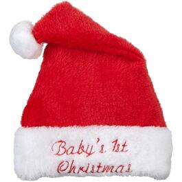 Red Plush Baby's 1st Christmas Santa Hat thumb