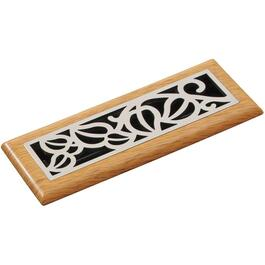 "3"" x 10"" Oak/Satin Nickel ABS Floor Diffuser thumb"