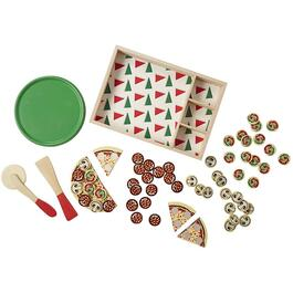 54 Piece Pizza Wooden Food Set thumb