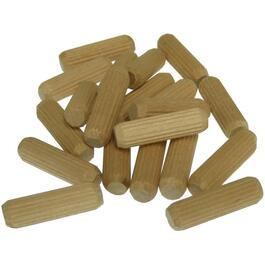 "20 Pack  3/8"" x 1-1/4""Wooden Dowels thumb"