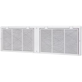 "8"" x 30"" White Poly Baseboard Grille, with Filter thumb"
