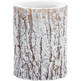 "3"" x 4"" Snowy Woodland Battery-Operated LED Flameless Pillar Candle, with 5 Hour Timer thumb"