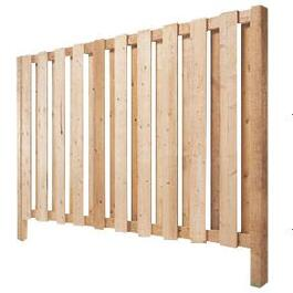 5' Cedar Vertical Board Fence Package thumb