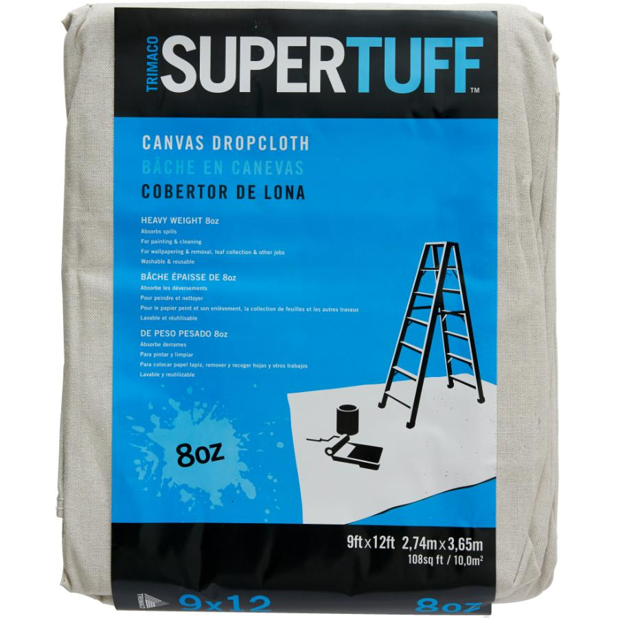 trimaco 9' x 12' supertuff canvas drop sheet | home hardware