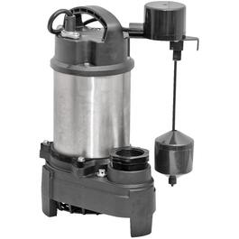 3/4 Horse Power Stainless Steel Effluent/Sump Pump with Vertical Switch thumb