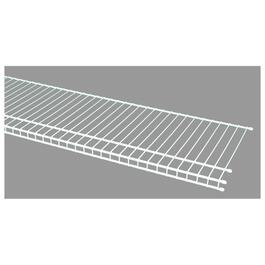 "12"" x 6' White Superslide Wire Shelf thumb"