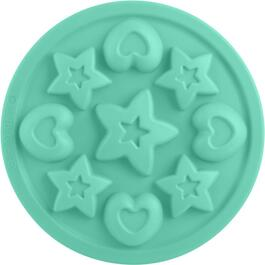 "9"" Silicone Cake Stars/Hearts Pan/Mould thumb"