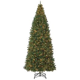 12' Slim Mountain Pine Christmas Tree, with 800 Clear Lights thumb