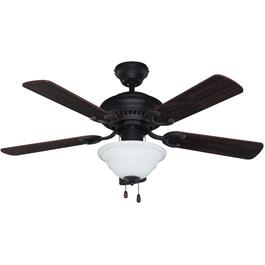 "Fenmore 42"" 5 Blade Oil Rubbed Bronze Ceiling Fan with Light thumb"