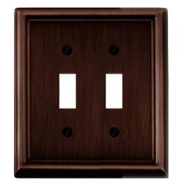 Estate Oil Rubbed Bronze 2 Toggle Switch Plate thumb