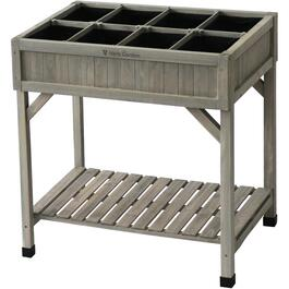Grey Washed Raised Herb Garden Planter thumb