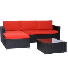 3 Piece Churchill L-Shape Sectional Set, with Cushions thumb