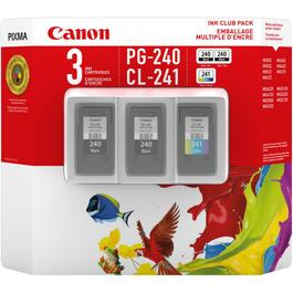 3 Pack PG-240 & CL241 Club Pack Inkjet Cartridges thumb