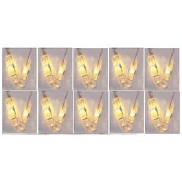 10 LED Warm White Clothespin Dot Battery Operated Light Set thumb