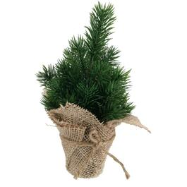 "8"" Tabletop Pine Tree, with Burlap Pot thumb"