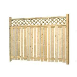 5' Cedar Deluxe Lattice Fence Package thumb