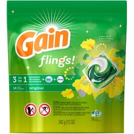 14 Pack Original Scented Flings Laundry Detergent thumb