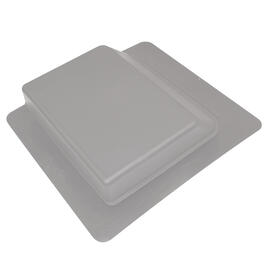Grey Plastic Slant Back Roof Vent thumb