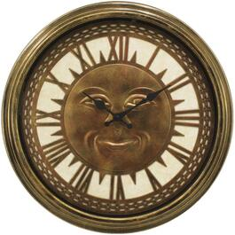 "18"" Outdoor Sunface Metal Wall Clock, Assorted Colours thumb"