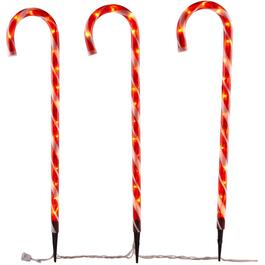 "3 Pack 28"" Candy Cane Pathway Marker, with Lights thumb"