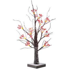 "18"" Tabletop Snowy Berry Twig Tree, with LED Lights thumb"