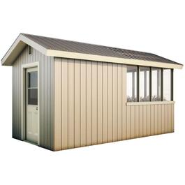 16' x 8' Decorative Plywood Green House Gable Shed Package thumb