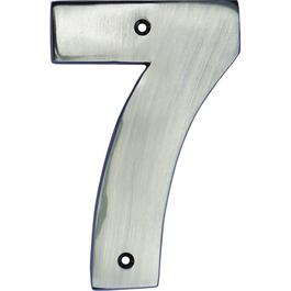 "5"" Antique Nickel '7' House Number thumb"
