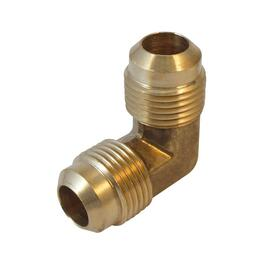 "5/8"" Flare x 1/2"" Male Pipe Thread Brass 90 Degree Elbow thumb"