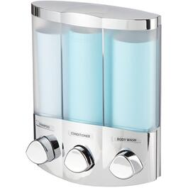 3 Unit Chrome Trio Shower Dispenser thumb
