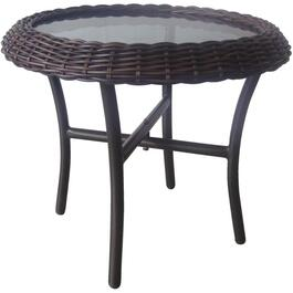 "22"" x 19"" Montauk Wicker Side Table thumb"