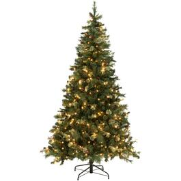 7.5' Lodge Cone and Berry Christmas Tree, with 450 Clear Lights thumb