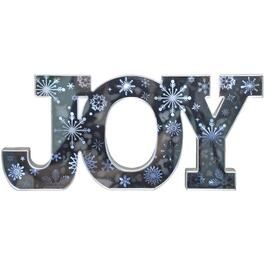 "19.25"" Battery Operated Mirrored Joy Wall Sign thumb"