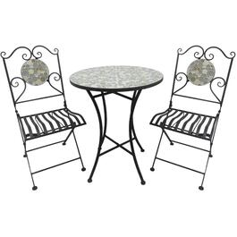 3 Piece Mosaic Glass Bistro Set thumb