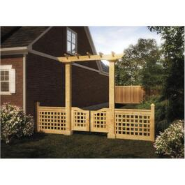 4' x 8' Pressure Treated Trellis, Gate and Fence Package thumb